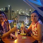 Birthday celebrations at a roof top bar close to the Dream Hotel.