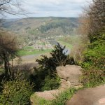 Taken from the 'Devil's Pulpit' from England, overlooking Tintern Abbey and the River Wye.