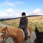 Horse riding in the Pembrokeshire countryside. Views from afar were spectacular!