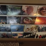 Ceiling covered with album covers