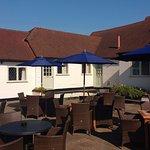 The lovely courtyard beer garden