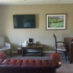 Settee, large tv and tea/coffee making facilities