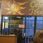 Just over the doorway in Cafe Jose