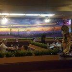 A beautiful mural inside the restaurant.