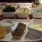 Fish supper at the Fish Bar, Level 7, JW Marriott Hotel, 88 Queensway, Hong Kong.
