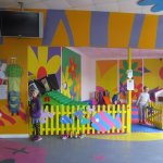 The soft play area.