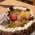 Gâteau amande pistache fruits