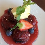 Beautiful plum dessert