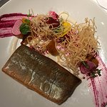 Arctic Char with beets, Araxi