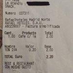 2,20€ por un café con leche qué me sirvo yo!!!