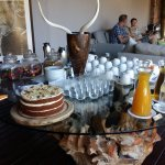 Just in case you haven't eaten for 3 minutes, afternoon tea before the game drive!