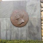closeup of JFK portrait