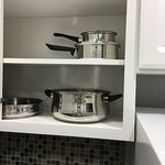 Kitchenette pots and pans