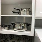 Kitchenette pots and pans