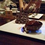 Firey salty caramel chocolate tart