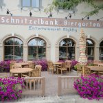 Schnitzelbank Biergarten open all Summer - weather permitting