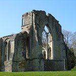 View of the altar side of the ruined Church Netley Abbey.