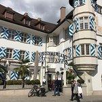 La Piazza in Schaffhausen, schöne Gartenwirtschaft, sehr gute Speisekarte, schönes Ambiente und