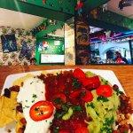 Speedy gonzalez nachos with vegetarian chilli