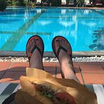 Bahn mi by the pool!