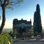 Part of the beautiful outdoor areas we enjoyed fwith an amazing view of Cortona