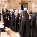 Religious prelates celebrate the finishing of the restoration