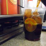 All of our iced coffee uses coffee ice!