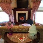 Relax year-round in front of our cozy fireplace in the Ann Eliza Suite