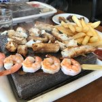 Chicken/pork/beef set with prawn skewer for lunch