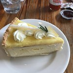 I had a Pimento Bacon Omelet and a Lemon Bar Cheesecake. They were delicious.