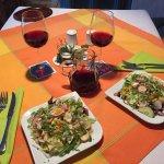 Fresh salad- delicious.
