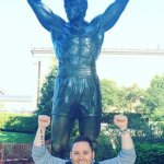 Me at the Rocky statue