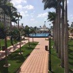 Main pool from the main hotel balcony.