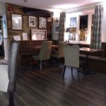 The interior of the Lamb Inn is now more contemporary but it retains the ambience of a Cotswold