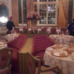 This was the dining area. They serve in golden plates