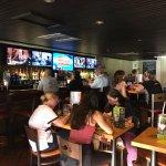 Bar TV area