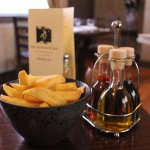 Tuck into your GF meal with our hand-cut chunky chips and sage vineger; a perfect side for any d