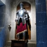 suit of armor as you come from the elevators