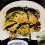Oysters Romano a spin on the Rockefeller classic.. 6 or 12 using James River Oysters