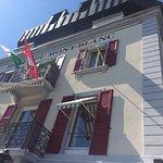 Terrace at Romantik Hotel Mont-Blanc Au Lac Foto