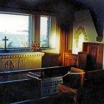 Interior of the Church of the Good Shepherd, Lake Tekapo, NZ.