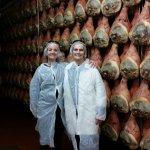 Hundreds of parma prosciutto hams aging