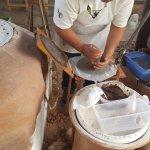 making fresh blue corn tortilla