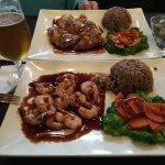 Shrimp Teriyaki and Chicken Teriyaki