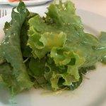 salada verde de entrada, simples