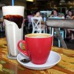 Milkshake and coffee