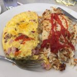 Greek omelette , Greek salad & Hawaiian omlet!