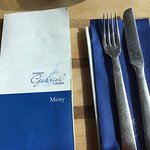 Menu for the famous Gabriels