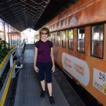 Ready to board the train from San Jose to Cartago