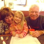 Grand daughter with Papa and Mimi
